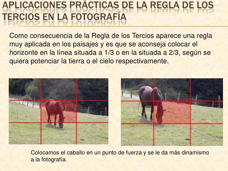 Aplicaciones prácticas de la regla de los tercios en la fotografía<br />Como consecuencia de la Regla de los Tercios apare...