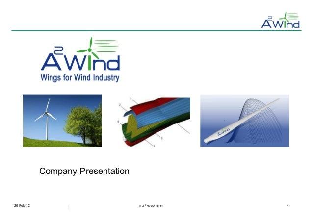 A 2 Wind                6,86 €            Company Presentation29-Feb-12                          © A2 Wind 2012   1