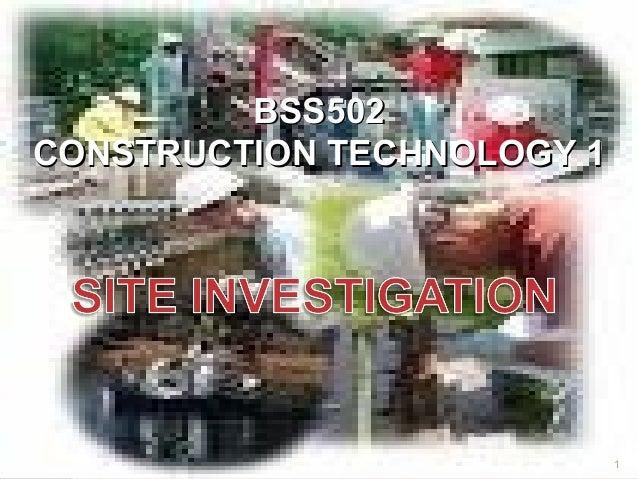 BSS502CONSTRUCTION TECHNOLOGY 1                            1