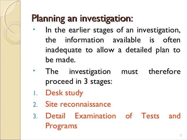 site investigation 2 Epa site investigations matrices the epa site investigations matrices are designed as a guidance tool to help plan and scope phase 1 and phase 2 site investigation.