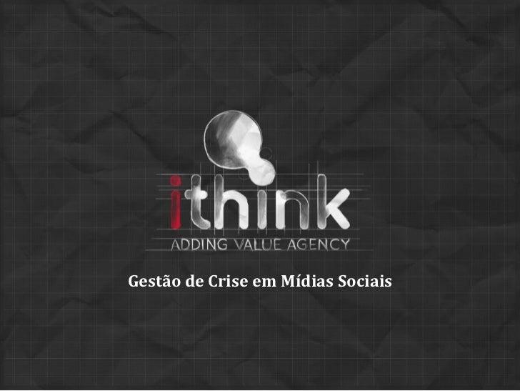 Gestão de Crise em Mídias Sociais