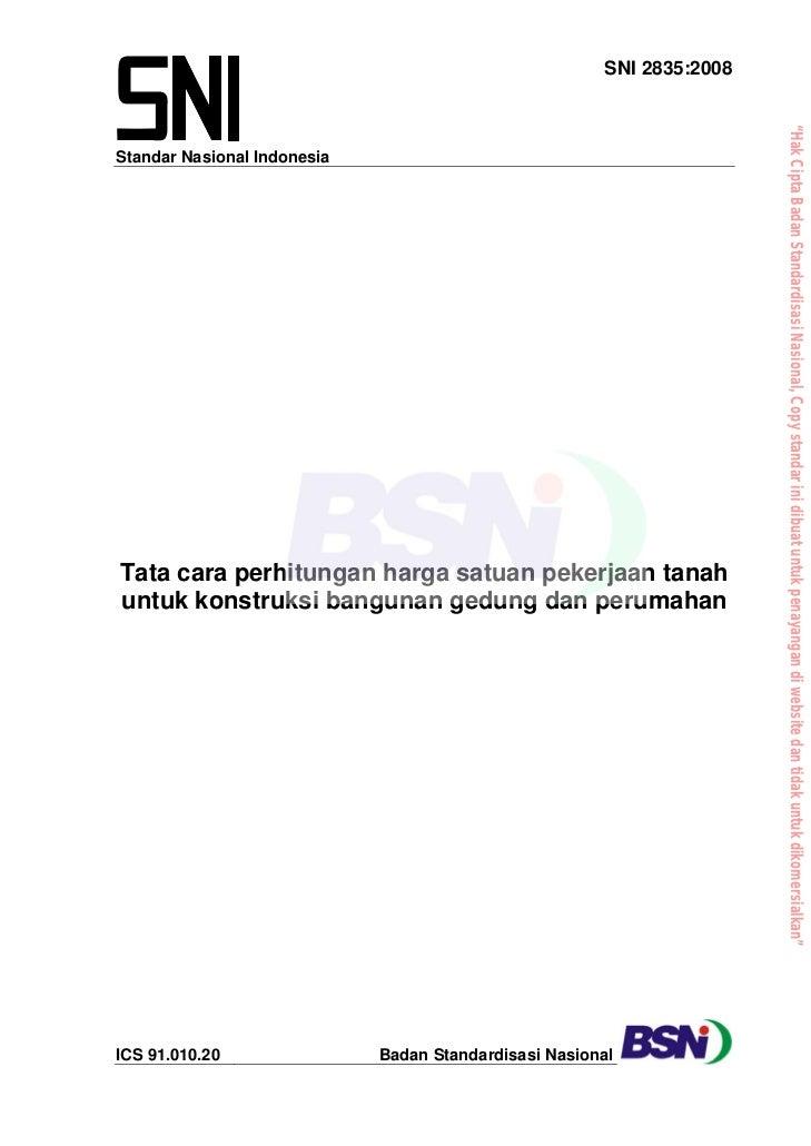 "SNI 2835:2008                                                                       ""Hak Cipta Badan Standardisasi Nasiona..."