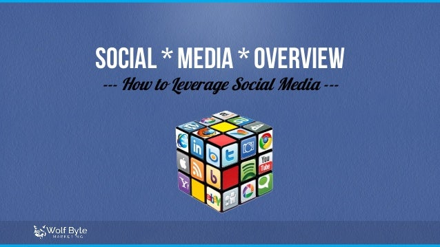 Social * Media * Overview --- How to Leverage Social Media ---