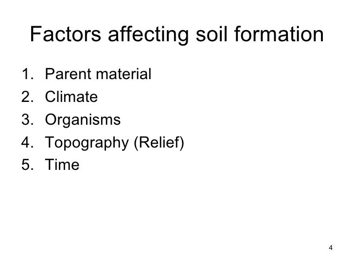 2 soil formation 1 for Soil factors