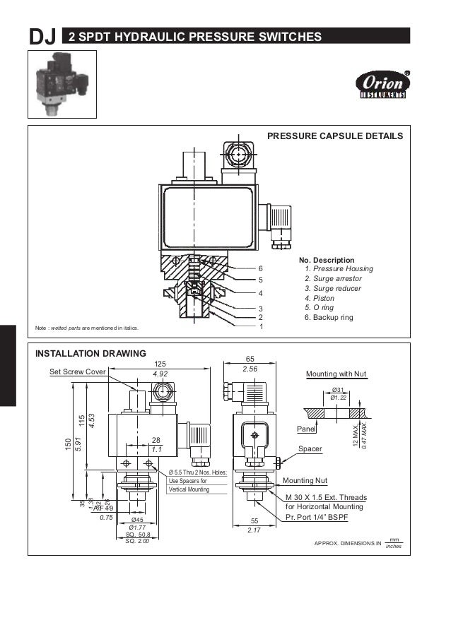 2 spdt hydraulic range pressure switch dj series dj 2 spdt hydraulic pressure switches pressure capsule details 6 5 4 3 2 note asfbconference2016 Image collections