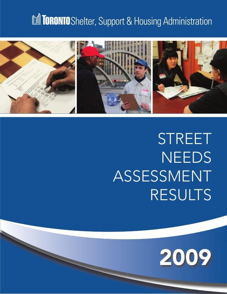 STREET     NEEDSASSESSMENT    RESULTS     2009
