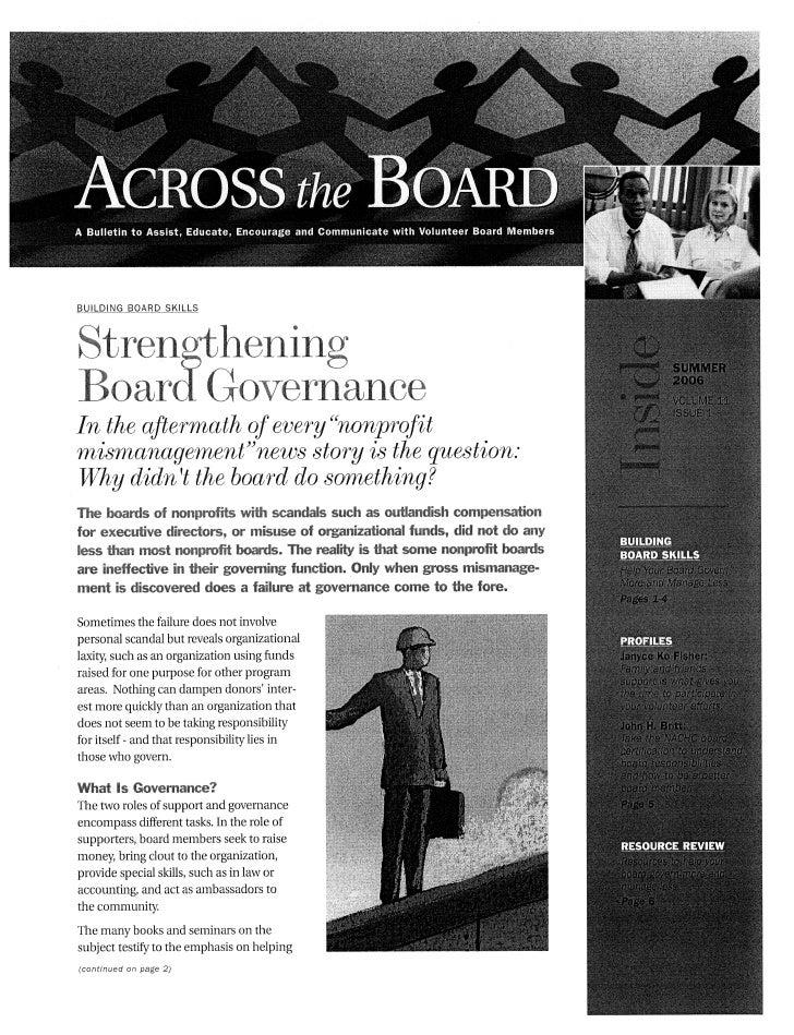 2. strengthening board governance