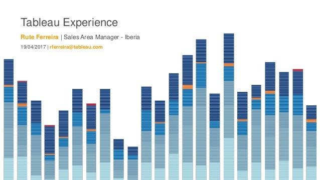 Tableau Experience Rute Ferreira | Sales Area Manager - Iberia 19/04/2017 | rferreira@tableau.com