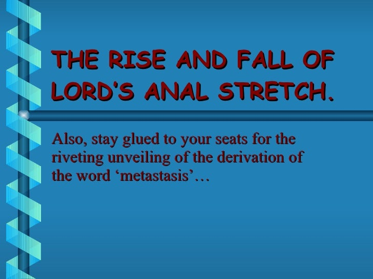 How can i anal strectch