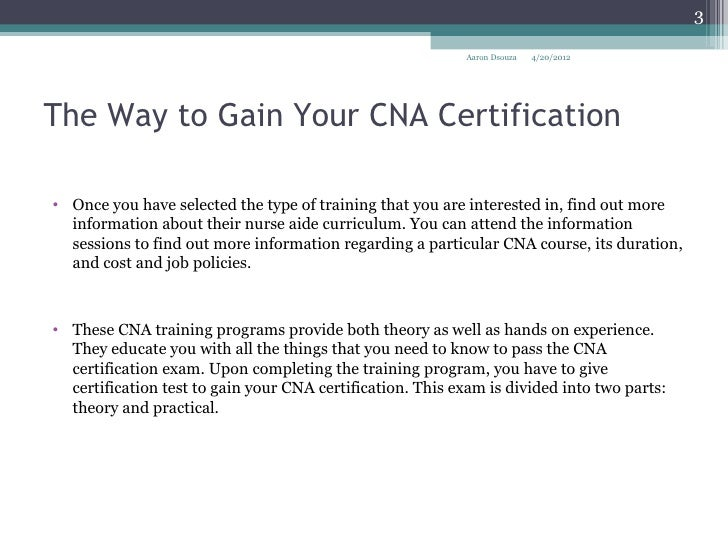 2 The Way To Gain Your Cna Certification