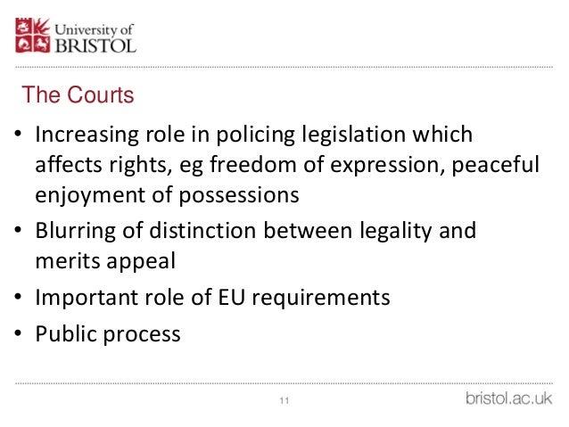 Constitutional Role of the Judge: Statutory Interpretation
