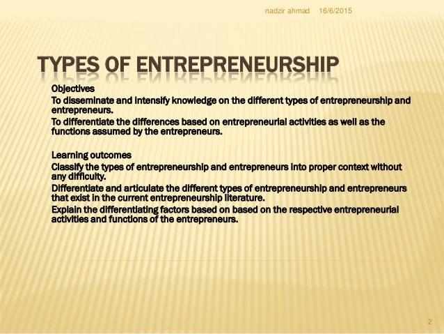 Different definition of entrepreneur