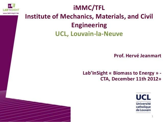 iMMC/TFLInstitute of Mechanics, Materials, and Civil                Engineering           UCL, Louvain-la-Neuve           ...