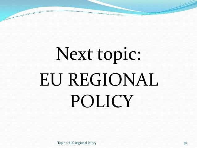 Eu regional policy essay