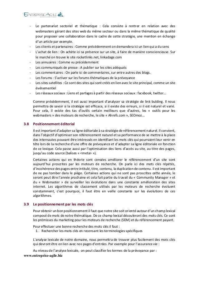 www.entreprise-agile.biz  - Le partenariat sectoriel et thématique : Cela consiste à rentrer en relation avec des webmaste...