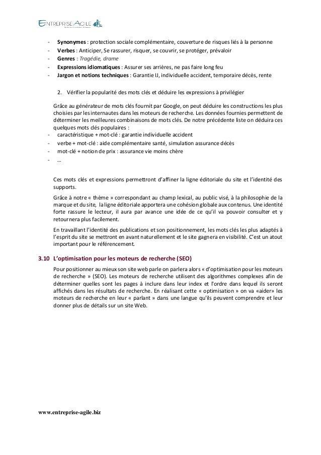 www.entreprise-agile.biz  - Synonymes : protection sociale complémentaire, couverture de risques liés à la personne - Verb...