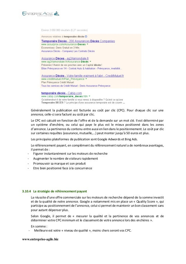 www.entreprise-agile.biz  Généralement la publication est facturée au coût par clic (CPC). Pour chaque clic sur une annonc...