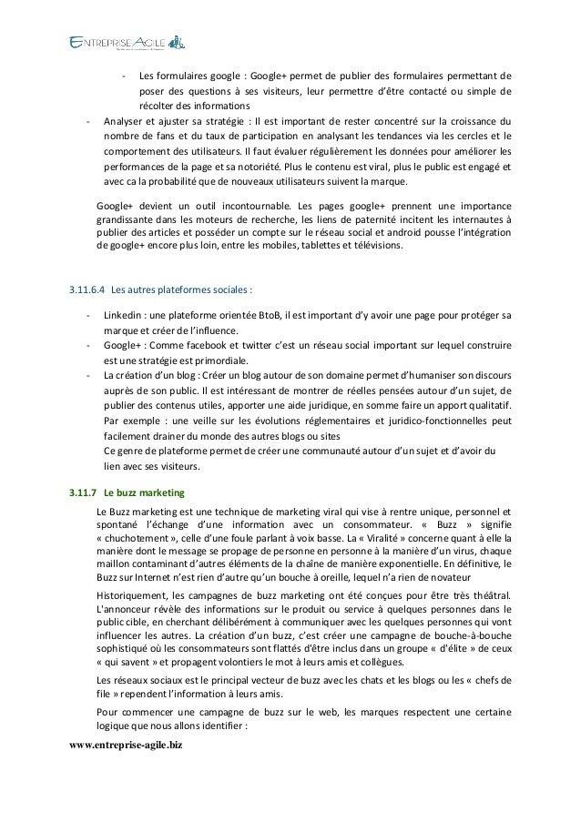 www.entreprise-agile.biz  - Les formulaires google : Google+ permet de publier des formulaires permettant de poser des que...