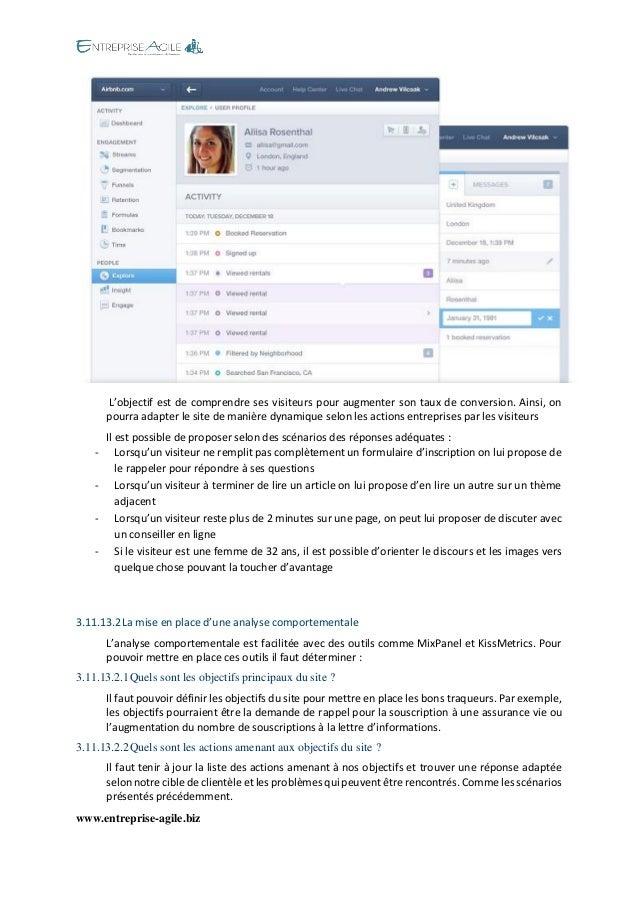 www.entreprise-agile.biz  L'objectif est de comprendre ses visiteurs pour augmenter son taux de conversion. Ainsi, on pour...