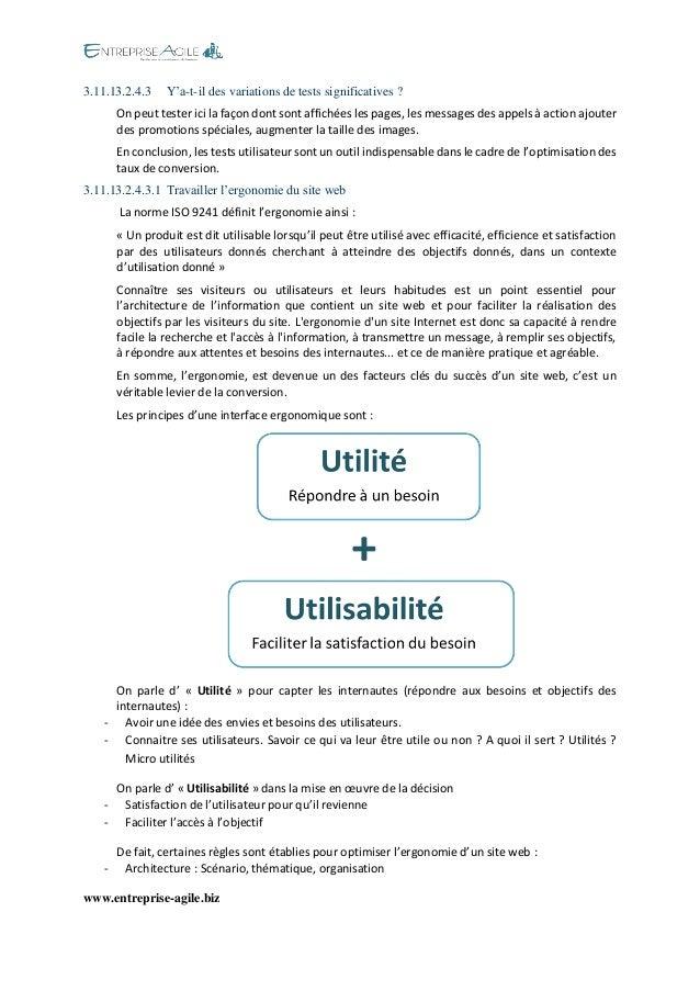 www.entreprise-agile.biz  3.11.13.2.4.3 Y'a-t-il des variations de tests significatives ?  On peut tester ici la façon don...
