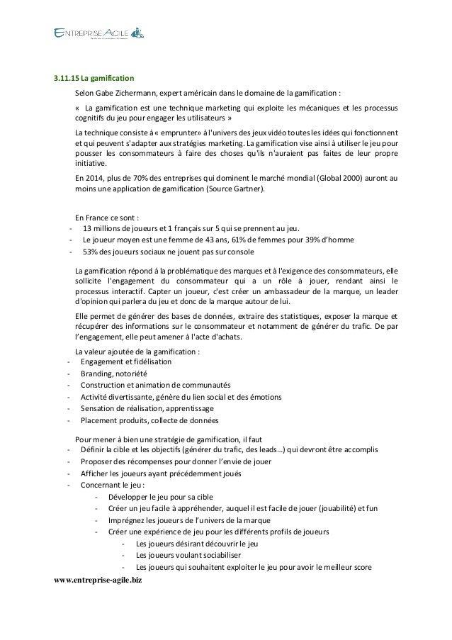 www.entreprise-agile.biz  3.11.15 La gamification Selon Gabe Zichermann, expert américain dans le domaine de la gamificati...