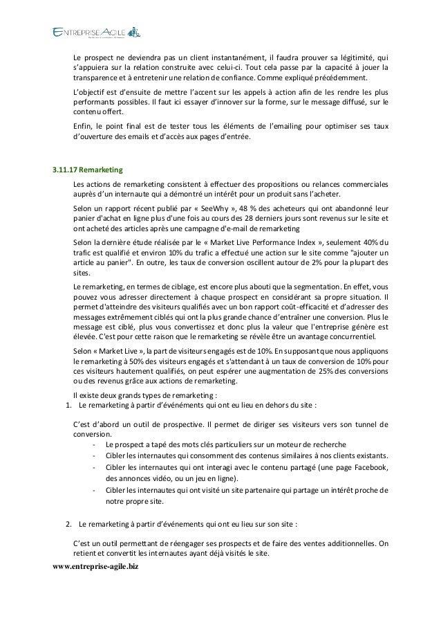 www.entreprise-agile.biz  Le prospect ne deviendra pas un client instantanément, il faudra prouver sa légitimité, qui s'ap...