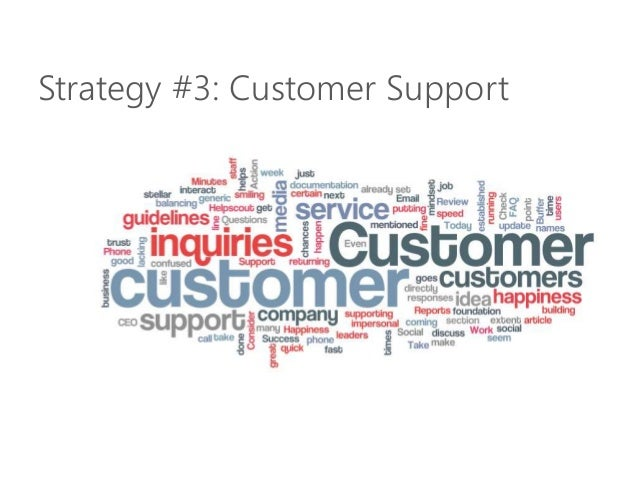 Strategy #3: Customer Support