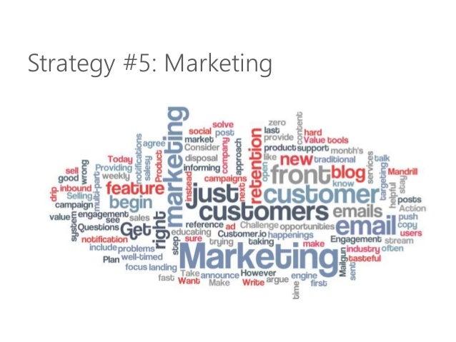 Strategy #5: Marketing