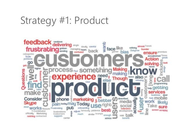 Strategy #1: Product