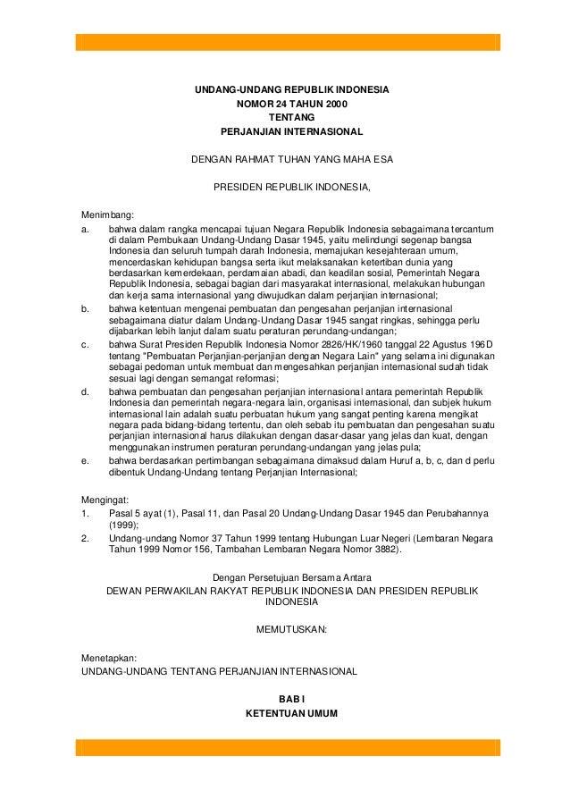 2 uu perjanjian internasional no 24 th 2000