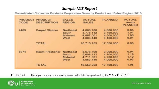 Mis reports examples