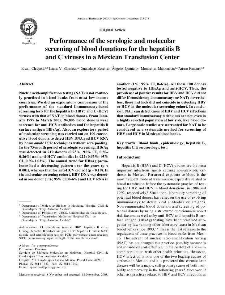 Annals of Hepatology 2005; 4(4): October-December: 275-278                                                            Orig...