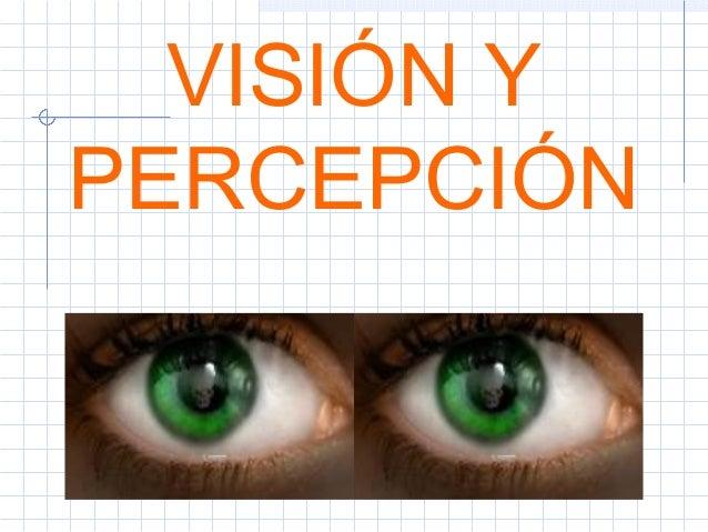 VISIÓN Y PERCEPCIÓN