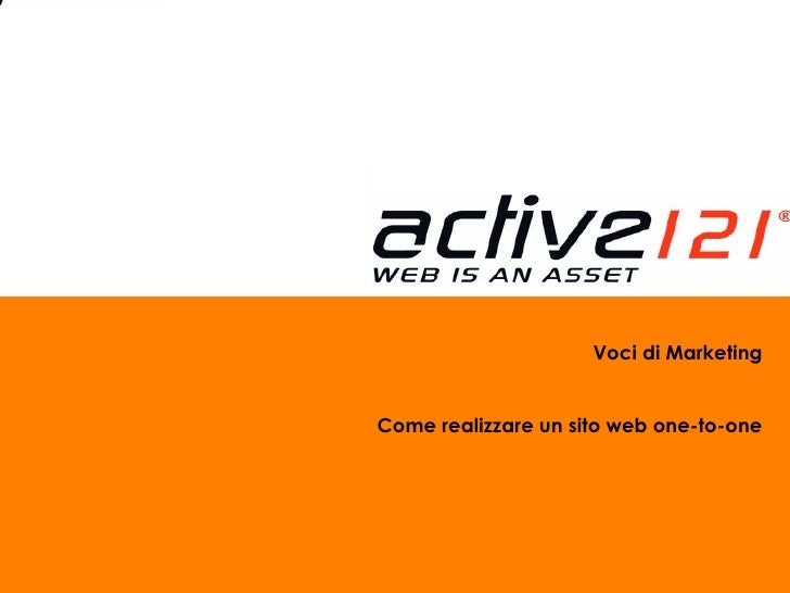 Voci di Marketing Come realizzare un sito web one-to-one