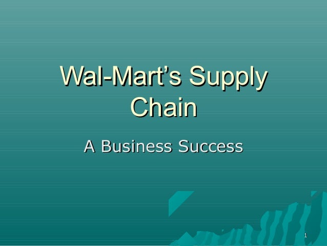 wal marts supply chain The expectations for walmart's e-commerce business is walmart's supply chain connecting customers with e-commerce wal-mart builds supply chain to meet e.