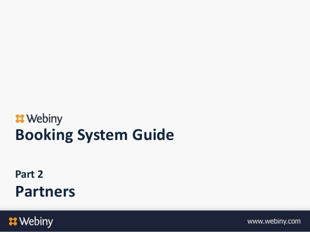 Booking System GuidePart 2Partners