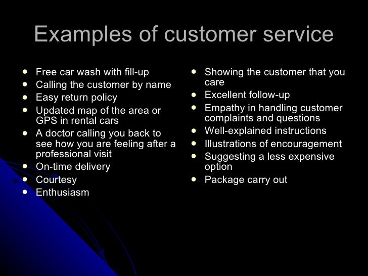 2 what is customer service