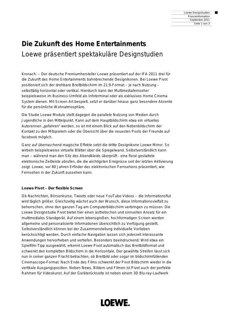 Loewe Designstudien                                                                                                   Pres...