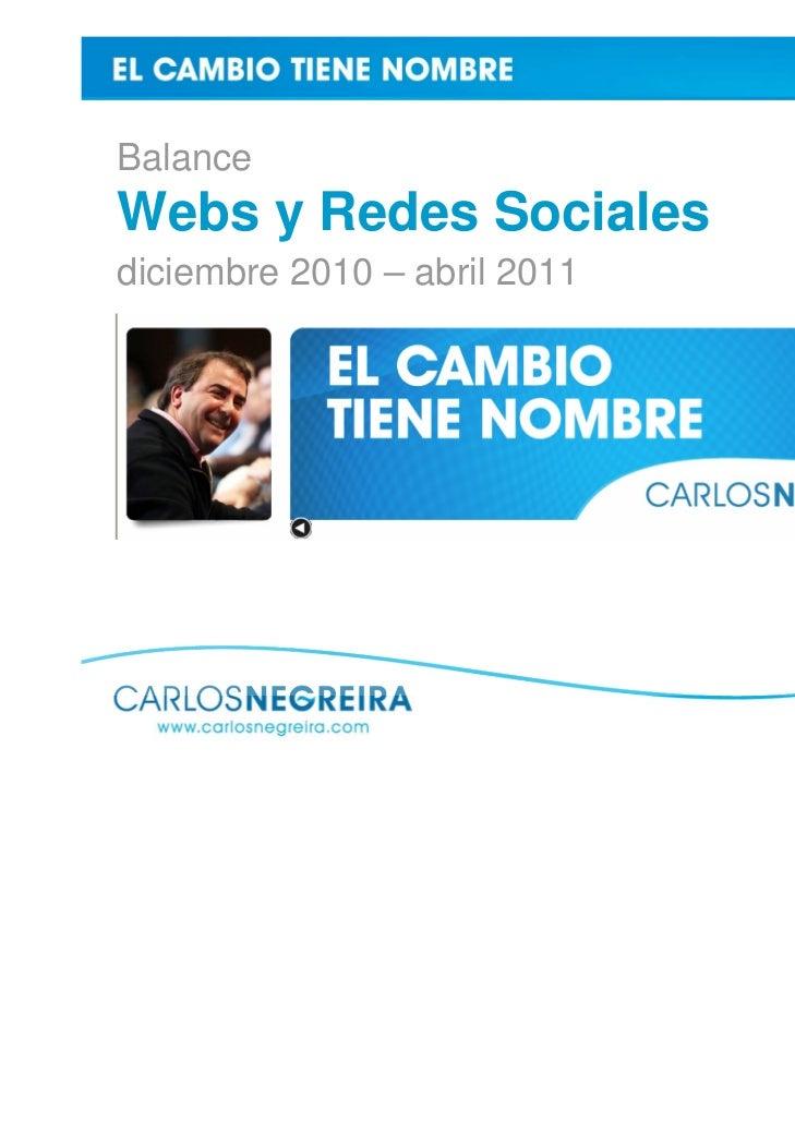 BalanceWebs y Redes Socialesdiciembre 2010 – abril 2011