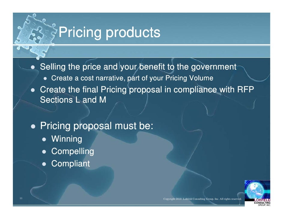 Government Contracts: Setting Up a One-Stop Pricing Shop