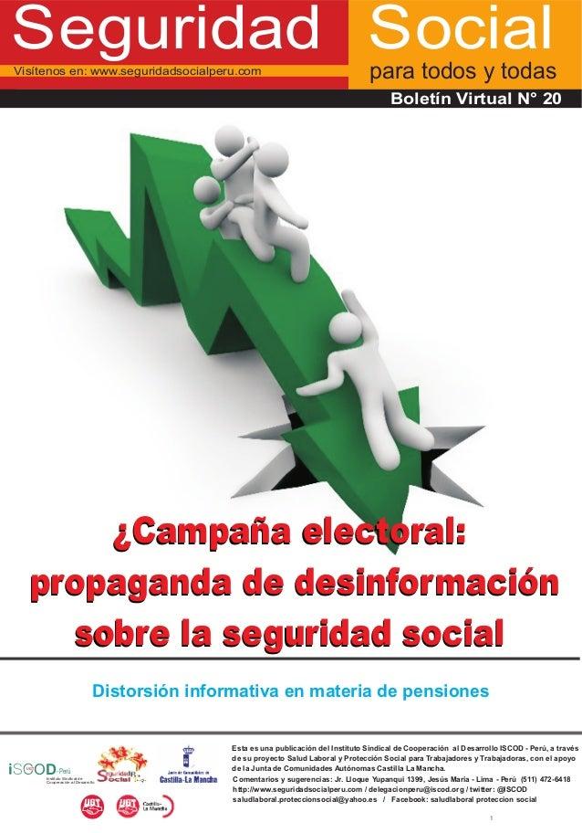 Seguridad SocialVisítenos en: www.seguridadsocialperu.com                                               para todos y todas...