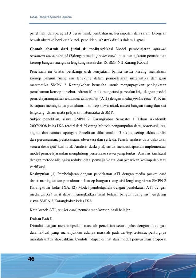 Laporan Penelitian Tindakan Kelas Ptk Dengan 8 Metode