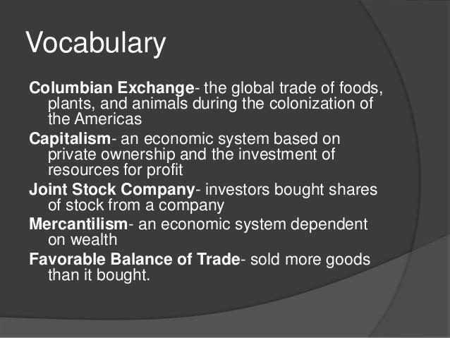 20.4 the columbian exchange and global trade