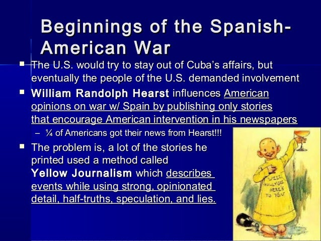 Chapter 20 Section 2 - The Spanish - American War
