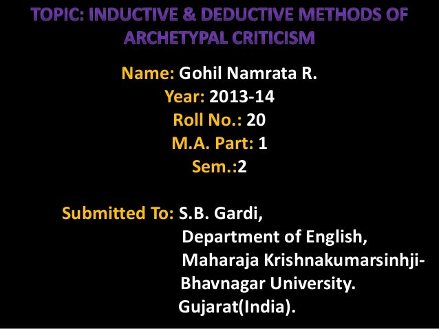 Name: Gohil Namrata R. Year: 2013-14 Roll No.: 20 M.A. Part: 1 Sem.:2 Submitted To: S.B. Gardi, Department of English, Mah...