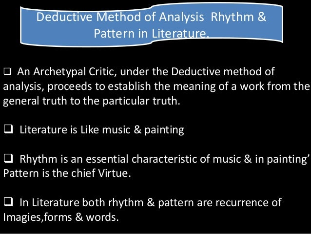 myth and archetype analysis Introduction to literature michael delahoyde archetypal criticism archetypal criticism argues that archetypes determine the form and function of literary works, that a text's meaning is.