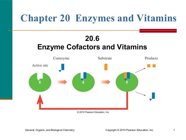 General, Organic, and Biological Chemistry Copyright© 2010 Pearson Education, Inc. 1 Chapter 20 Enzymes and Vitamins 20.6...