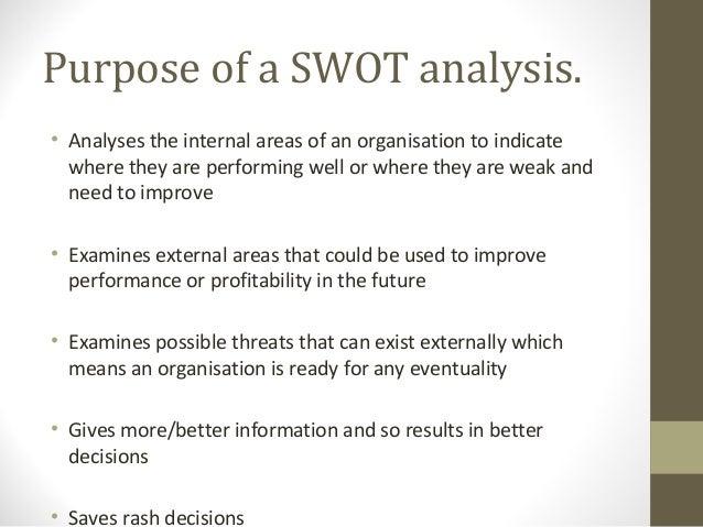 purpose of a swot analysis