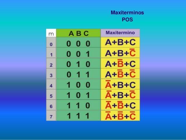 De que depende elegir Miniterminos o Maxiterminos ?