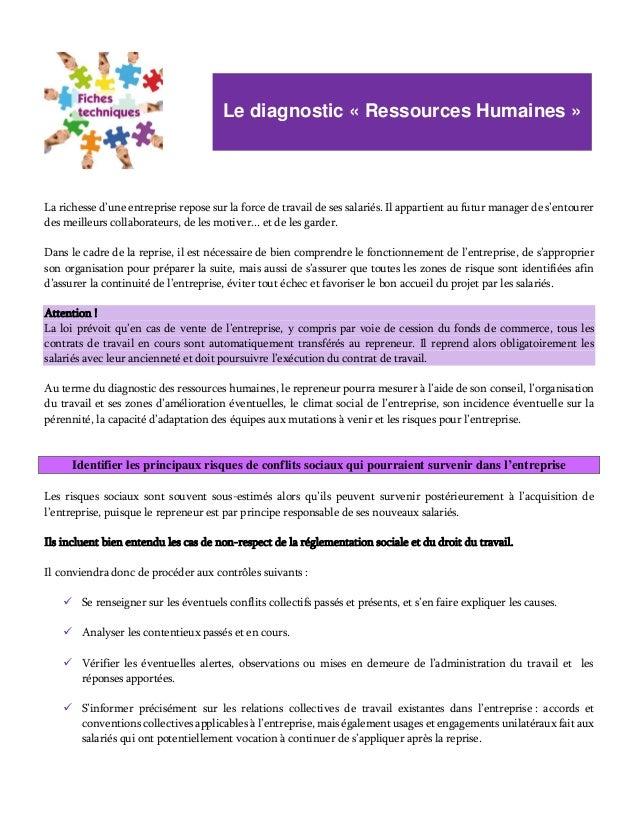Transmission Reprise Diagnostiquer Et Evaluer L Entreprise Diagno
